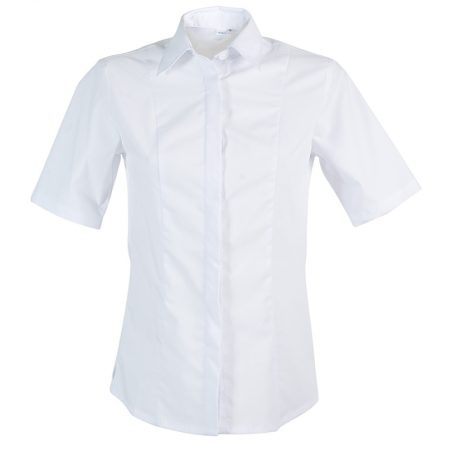 Chemisier Femme Blanc Polyester/coton Manches Courtes