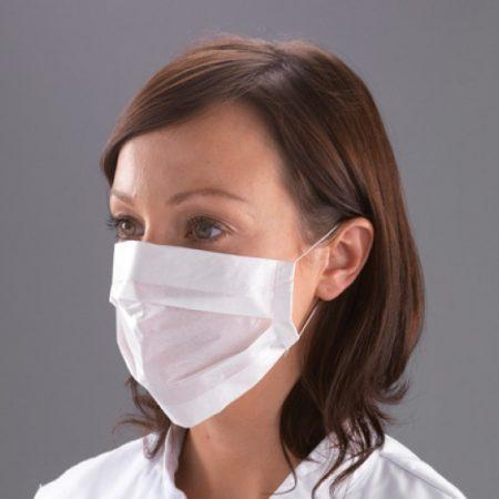 Masque Plat 2 Plis Papier