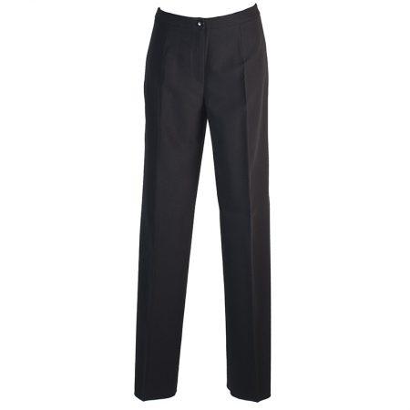 Pantalon Femme Habillé De Représentation Polyester/viscose/spandex Noir