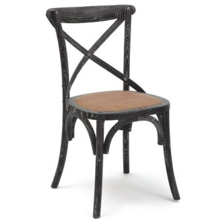 Chaise En Bois Simple De Dos De Fourchette