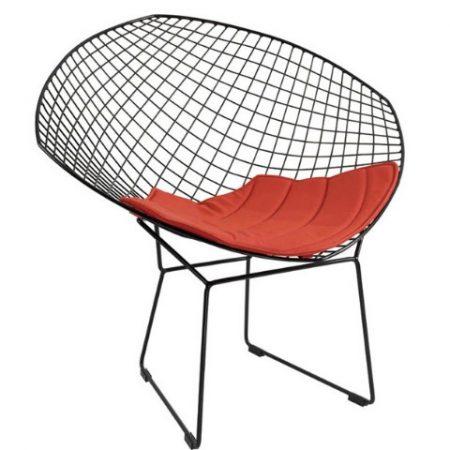Chaise De Fil De Mode Simple