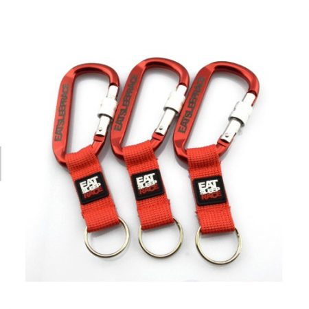 Porte-clés En Aluminium Mousqueton