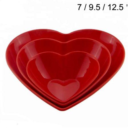 Bols En Plastique En Forme De Coeur